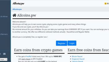 Allcoins.pw Review – Earn Bitcoins By PTC, Mining, Faucet, Games & More (Scam Or Legit?)